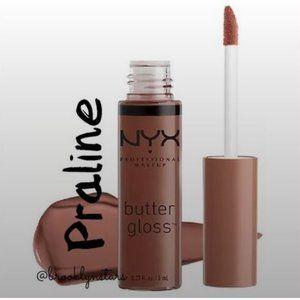 NYX Professional Makeup Butter Gloss Praline x 2